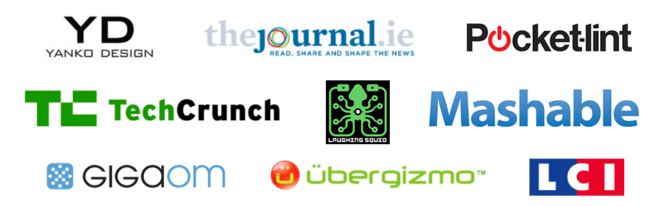 Mashable, Techcrunch, Laughing Squid, Yanko Design, etc.